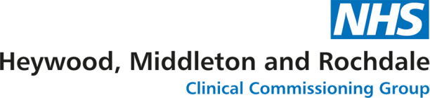 Heywood Middleton And Rochdale CCG Logo